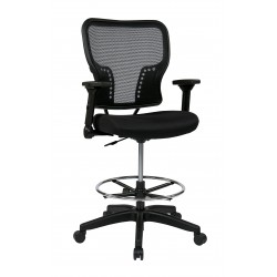 Space Seating Deluxe Air Grid Back and Padded Mesh Seat Chair (213-37N2F3D)