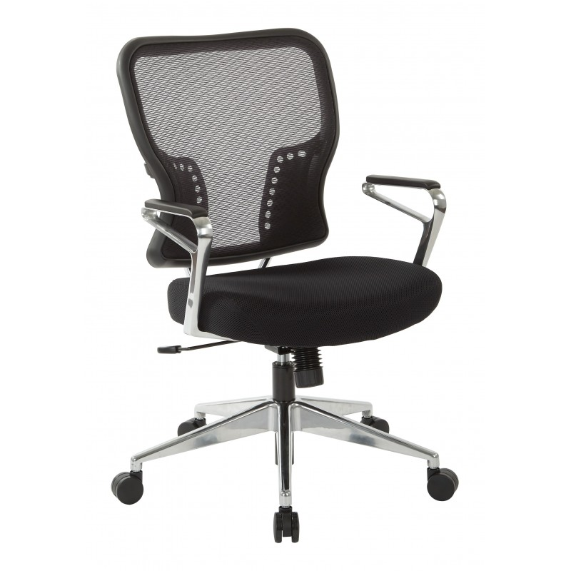 Space Seating Air Grid Back and Padded Mesh Seat Chair (213-37P91A7)
