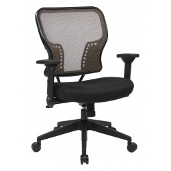 Space SeatingLatte Air Grid Back and Padded Mesh Seat Chair (213-38N1F3)