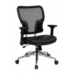 Space Seating Air Grid Back and Bonded Leather Seat Chair (213-E37P91F3)