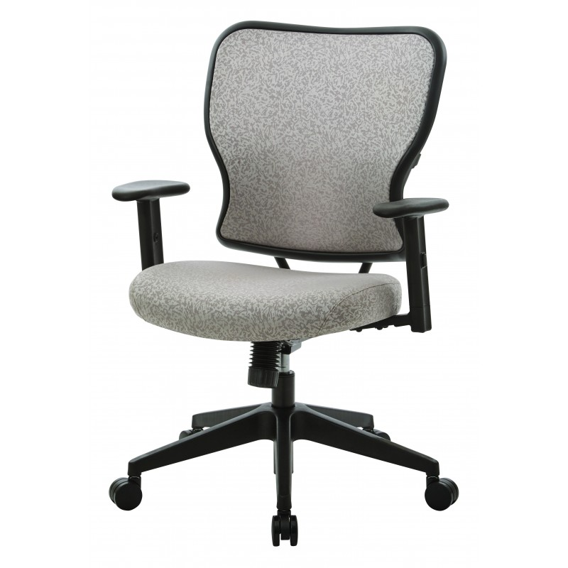 Space Seating Deluxe 2 to 1 Mechanical Height Adjustable Arms Chair in Latte Fabric (213-J11N1W)