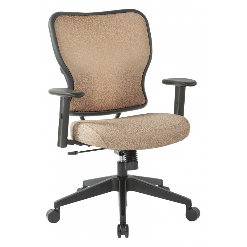 Space Seating Deluxe 2 to 1 Mechanical Height Adjustable Arms Chair in Sand Fabric (213-J77N1W)