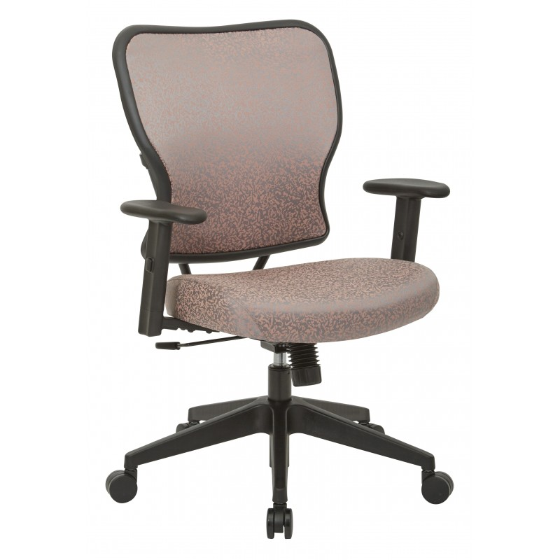 Space Seating Deluxe 2 to 1 Mechanical Height Adjustable Arms Chair in Salmon Fabric (213-J88N1W)
