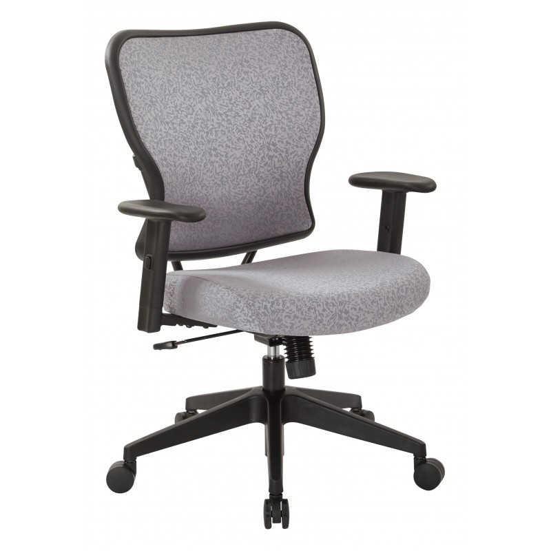 Space Seating Deluxe 2 to 1 Mechanical Height Adjustable Arms Chair in Steel Fabric (213-J99N1W)