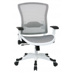 Space Seating White Frame Managers Chair (317W-W11C1F2W)