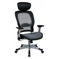 Space Seating Professional Light Air Grid Back and Seat Chair with Headrest (327-66C61F6HL)
