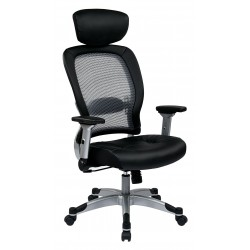 Space Seating Professional Light Air Grid Back Chair with Headrest (327-E36C61F6HL)