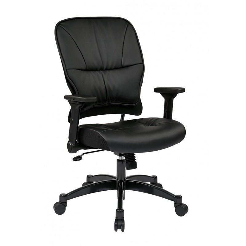 Space Seating Bonded Leather Seat and Back Managers Chair (32-E3371F3)