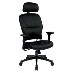 Space Seating Bonded Leather Seat and Back Managers Chair (32-E3371F3HL)