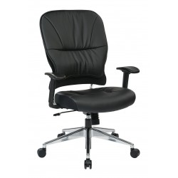 Space Seating Black Bonded Leather Managers Chair (32-E33P918P)