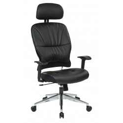 Space Seating Black Bonded Leather Managers Chair (32-E33P918PHL)