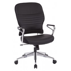 Space Seating Bonded Leather Managers Chair (32-E33P91A7)