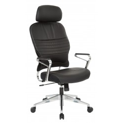 Space Seating Bonded Leather Managers Chair with Headrest (32-E33P91A7HL)