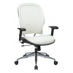 Space Seating Deluxe White Vinyl Back and Seat Managers Chair (33-Y22P91A8)