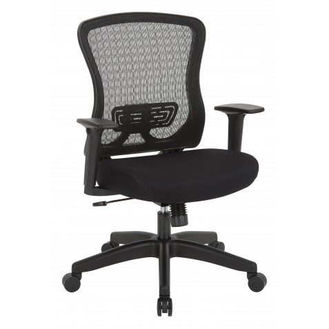 Space Seating CHX Dark Breathable Mesh Back and Padded Mesh Seat Managers Chair (525-3G3N11)
