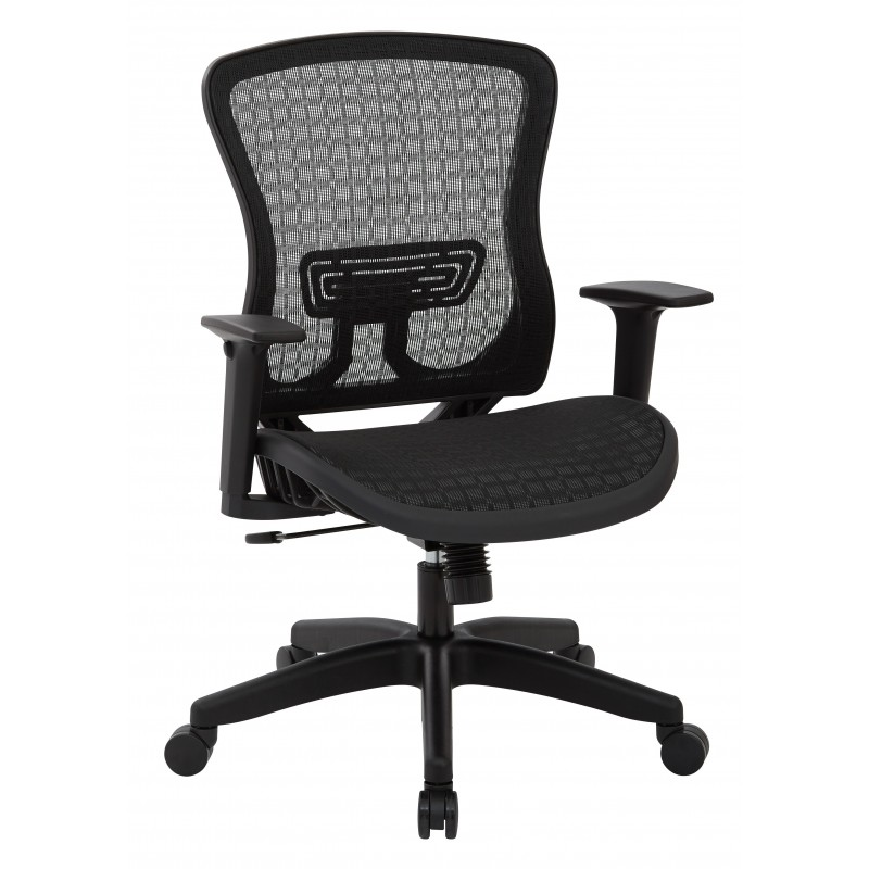 Space Seating CHX Dark Breathable Mesh Seat and Back Managers Chair (525-G33N11)