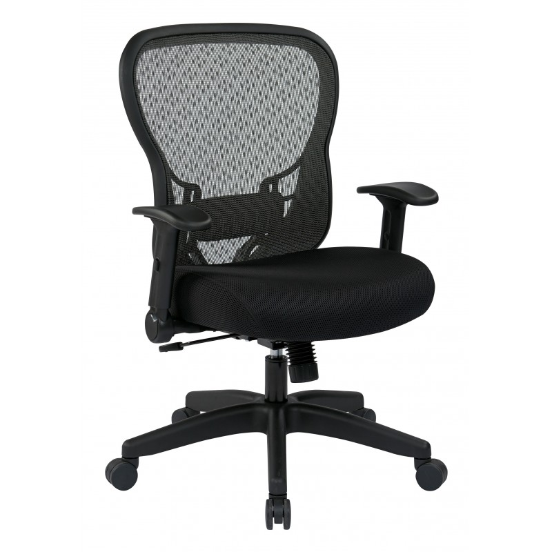 Space Seating Deluxe R2 SpaceGrid Back Chair with Memory Foam Mesh Seat Chair (529-3R2N1F2)