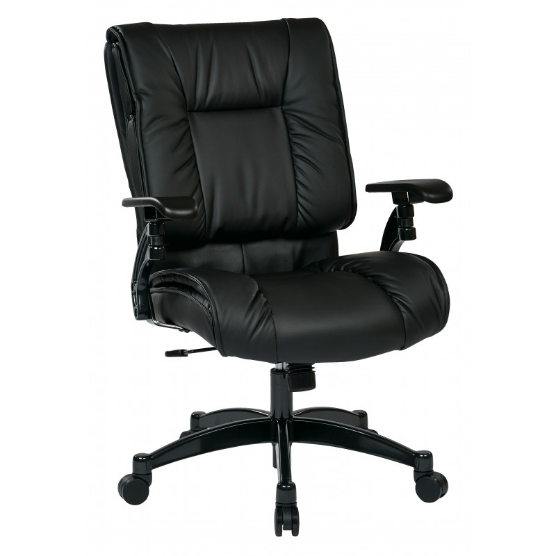 Space Seating Black Bonded Leather Conference Chair (9333E)