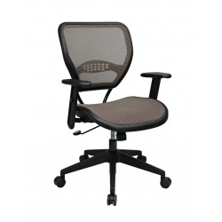 Space Seating Latte AirGrid Seat and Back Deluxe Task Chair (55-88N15)