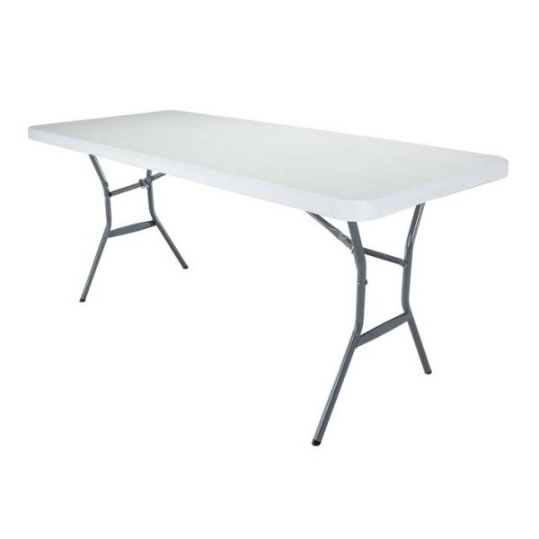Lifetime 6 Ft Light Commercial Fold In Half Table With