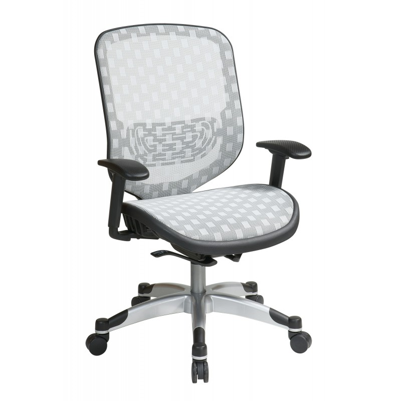 Space Seating White DuraFlex with Flow Through Technology Seat and Back Chair (829-R11C628P)