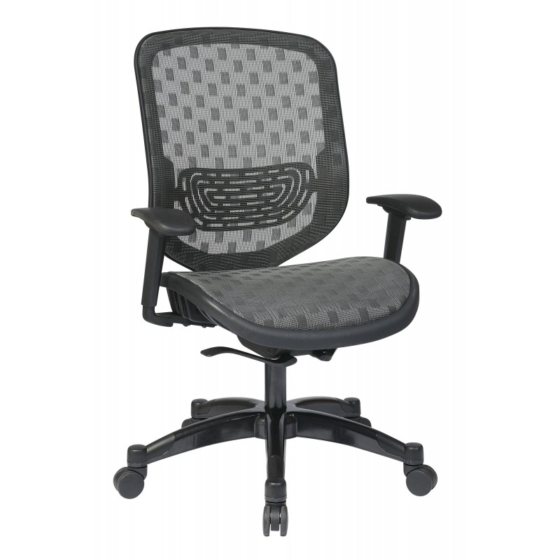 Space Seating White DuraFlex with Flow Through Technology Seat and Back Chair (829-R22C728P)