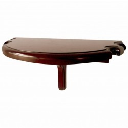 Blue Wave Premium Half Moon Wall Shelf - Walnut Finish (NG2552W)
