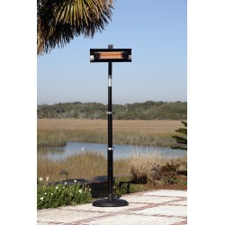 Fire Sense  Black Powder Coated Steel Telescoping Offset Pole Mounted Infrared Patio Heater (02678)