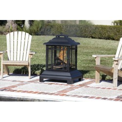 Fire Sense Rectangle Pagoda Patio Fireplace (02679)