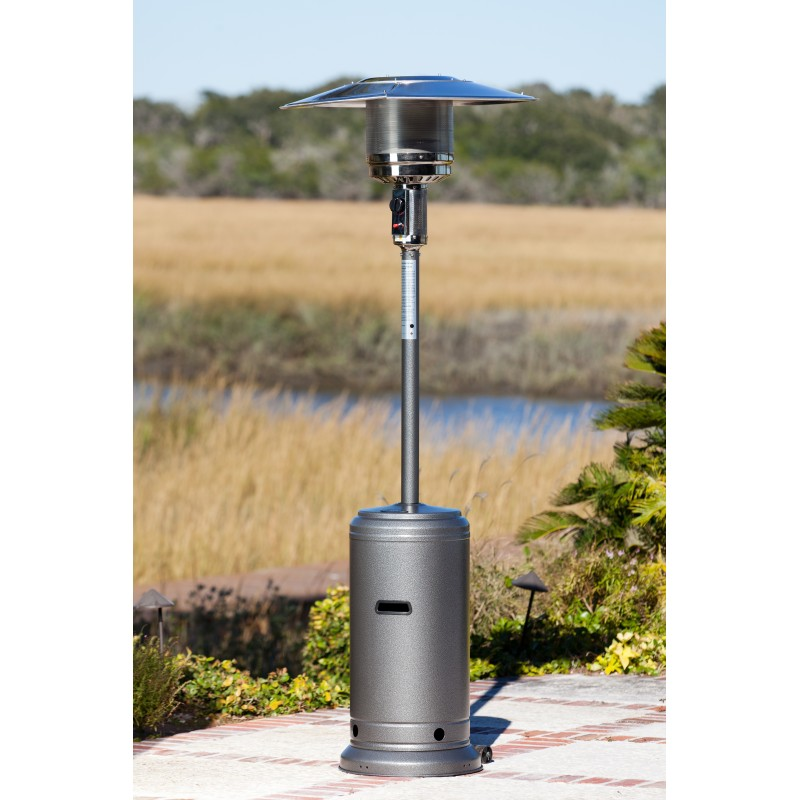 Fire Sense Hammered Silver Standard Series Patio Heater (61285)