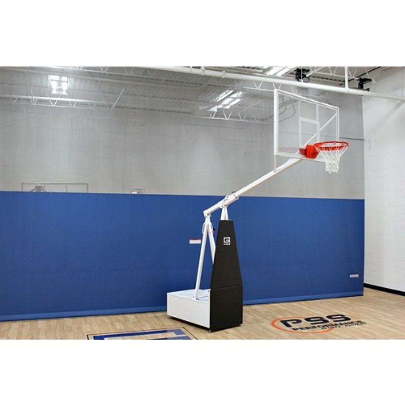 "Gared SUPER-Z60 Portable Basketball System with 6' Boom & 36"" x 60"" Rectangular Acrylic Board (9060)"