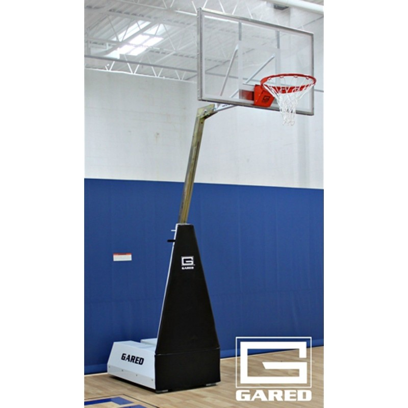 Gared Micro-Z54 Roll-Around Basketball System with 4' Boom (MICRO-Z54)