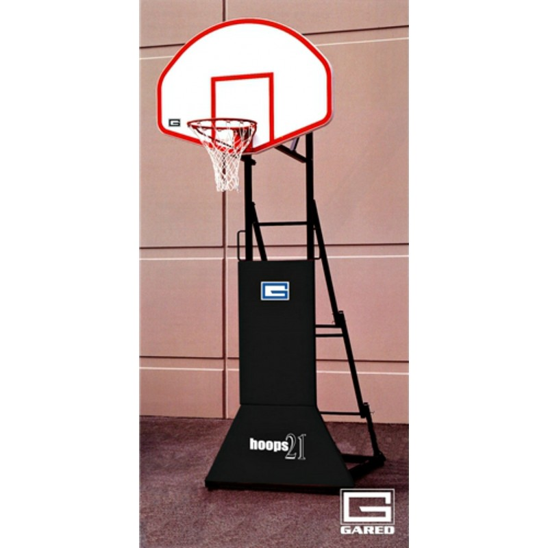 """Gared HOOPS 21, """"3 ON 3"""" Height Adjustable Portable Basketball System (9249)"""