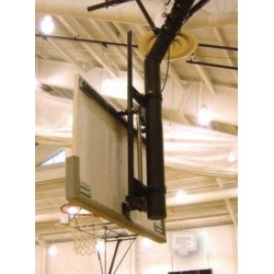 "Gared Manual-Goal Height Adjuster for 6-5/8"" Diameter Single Post for Rectangular Backboard w/ 63"" x 36"" Mounting (1132)"
