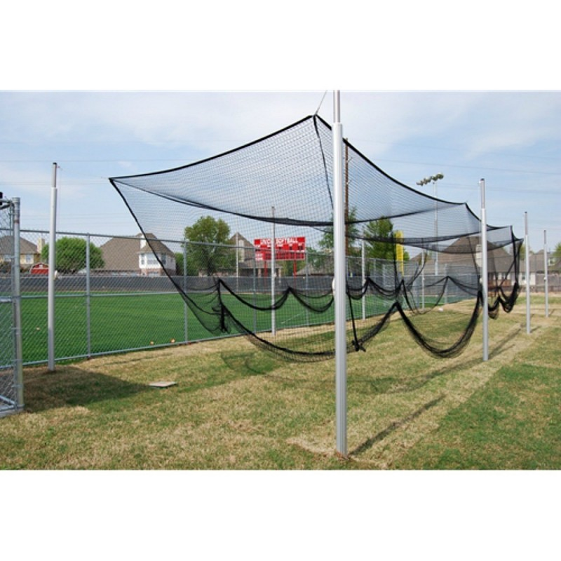 "Gared 3-1/2"" O.D. Steel Batting/Multi-Sport Cage Structure, 12' W x 10' H x 55' L, 8 Posts (4086-55)"