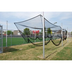"Gared Outdoor 3-1/2"" O.D. Steel Batting Cage, 70' (4086-70)"