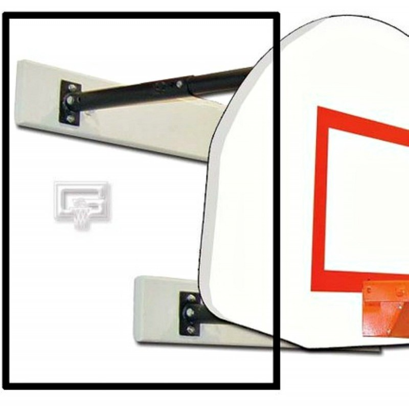 Gared Three-Point Wall Mount Series, 9-12' Extension, Fan-Shaped Board for Adjust-a-Goal (2350-9120A)