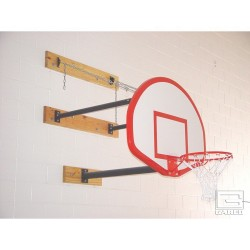 Gared Direct Mount Stationary Wall Mount Basketball Backstop, 6'-9' length (2350-6090A)