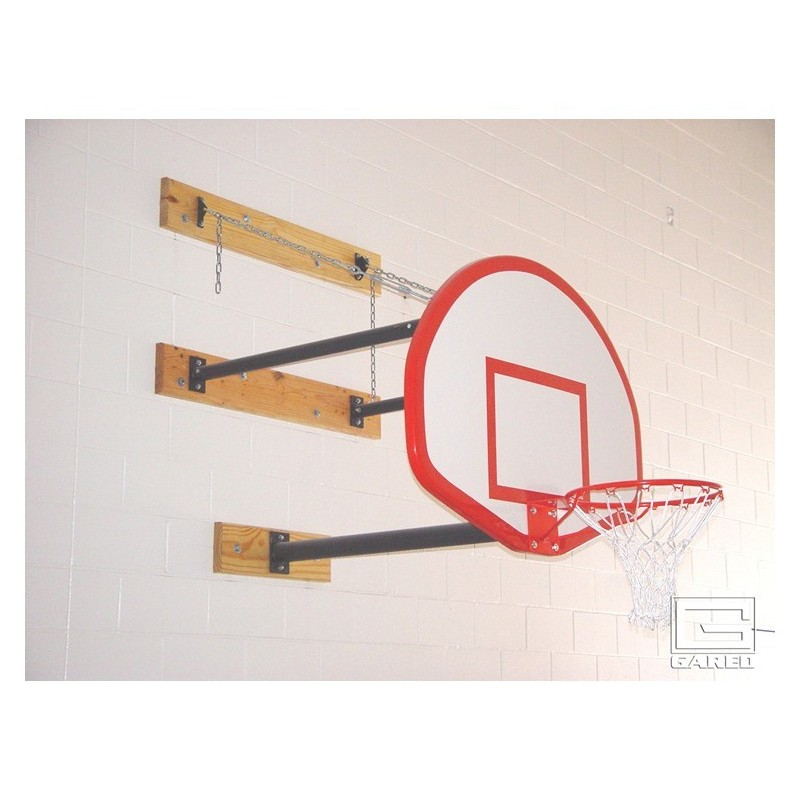 Gared Three-Point Wall Mount Series, 6-9' Extension, Fan-Shaped Board for Adjust-a-Goal (2350-6090A)