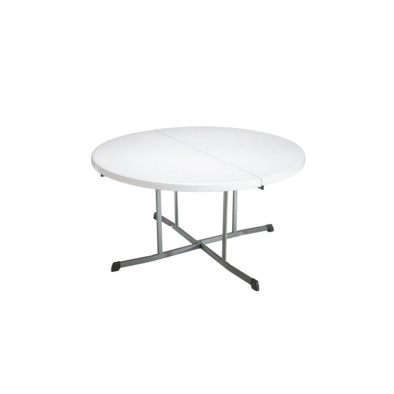 Lifetime 60 in. Commercial Round Fold-In-Half Table 7 Pack (White)