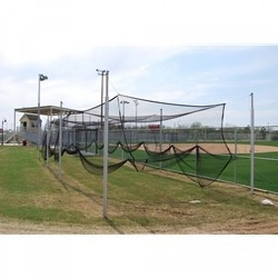 "Gared Outdoor Batting Cage Net, 12' W x 12' H x 70' L, Baseball/Softball, 1-3/4"" Black Mesh (4089)"