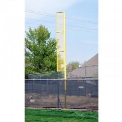 "Gared 3-1/2"" O.D. Inground 12' Foul Pole, 4' L x 18"" W Wing Panel (BSPOLE-12P)"