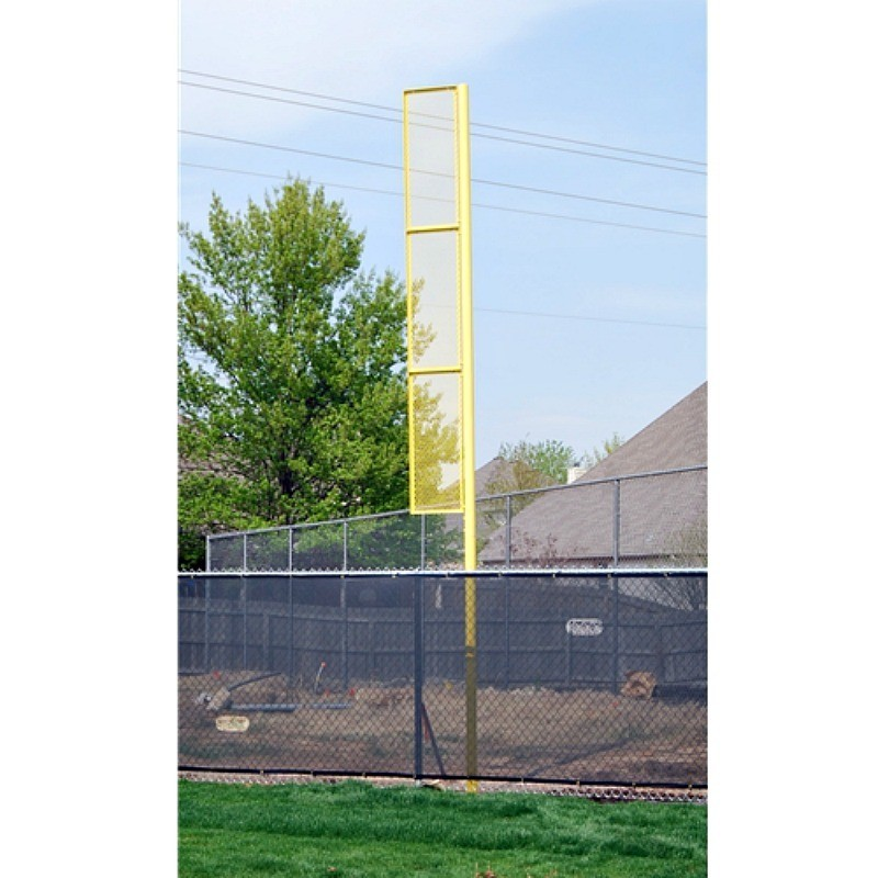 "Gared 3-1/2"" O.D. Surface Mount 15' Foul Pole, 8' L x 18"" W Wing Panel (BSPOLE-15SM)"
