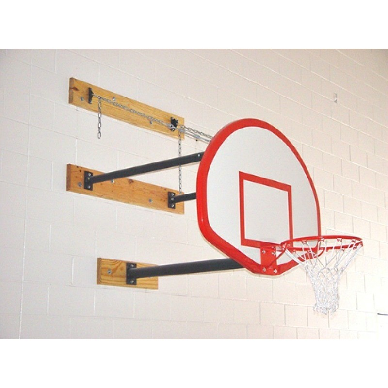 Gared Three-Point Wall Mount Series, 4-6' Extension, Fan-Shaped Board for Adjust-a-Goal (2350-4060A)