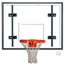 "Gared 42"" x 54"" Auxiliary Glass Backboard with Steel Frame (3050RG)"
