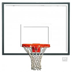 "Gared 42""X54"" Glass Backboard with Steel Frame (3050)"