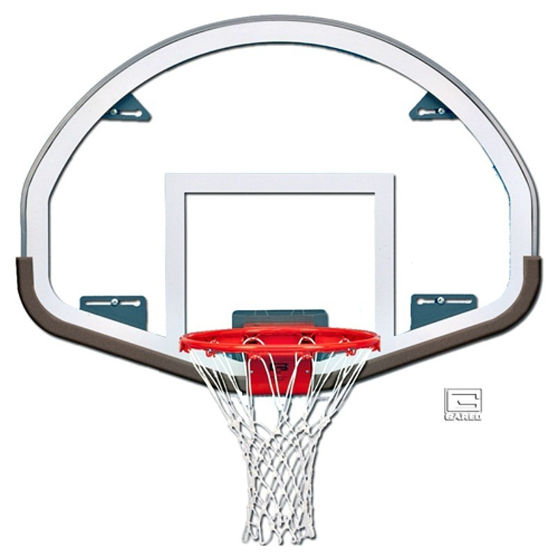 "Gared 39"" x 54"" Auxiliary Glass Backboard with Steel Frame (FSGII)"