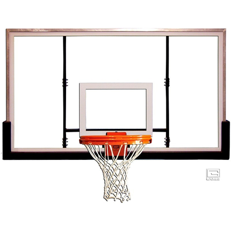 "Gared 42"" x 60"" Glass Rectangular Backboard (BB60G38)"