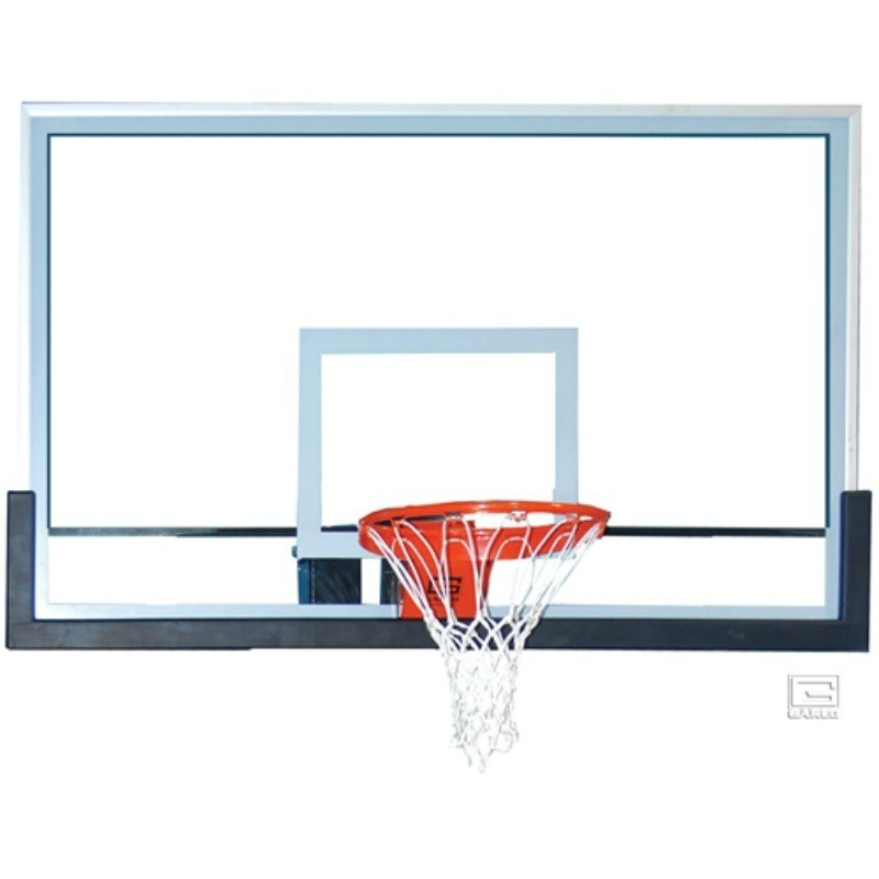 "Gared 42"" x 72"" Glass Rectangular Backboard with Clear View (BB72G50HH)"