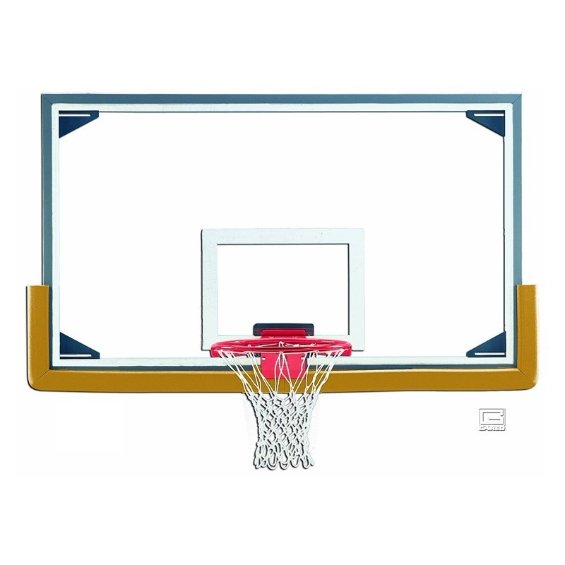 "Gared 42"" x 72"" Regulation Glass Backboard with Steel Frame (LXP4200)"